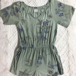 Junior-Size - Floral Romper by O'Neil